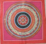 手描きタンカ:マントラ曼荼羅+ナムチュワンデン マンダラ