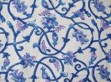 クロス:青ピンク花