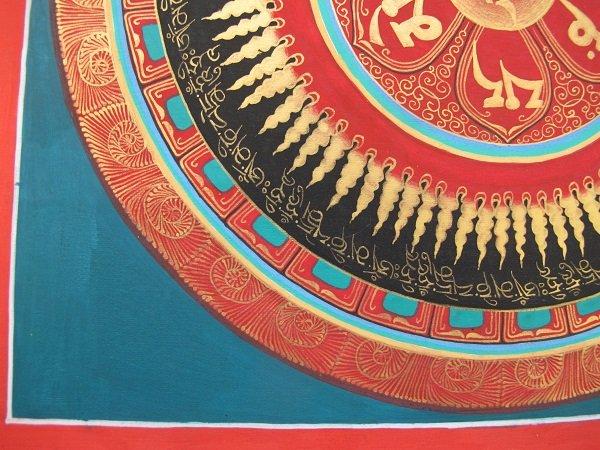 画像4: 手描きタンカ:マントラ曼荼羅