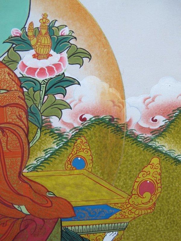 画像5: 手描きタンカ:マイトレーヤ(弥勒菩薩)