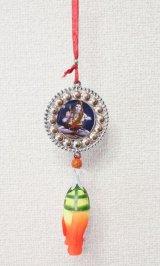 インド 神様車飾り シルバーシヴァ <郵送OK>