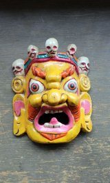 バイラブマスク壁飾り イエロー