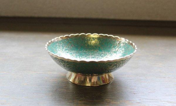 画像3: 真鍮 ブラスプレート くじゃくミドリ