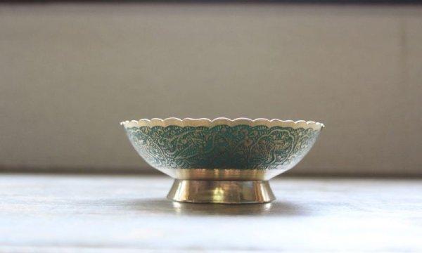 画像4: 真鍮 ブラスプレート くじゃくミドリ