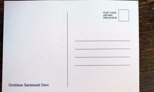 画像2: 神様ポストカード:サラスバティ 郵送OK