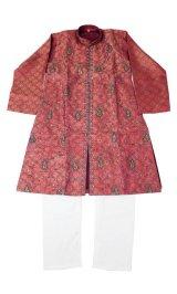 SALE!! 子供用 クルタパジャマ サイズ160(インド表記12):ワインレッド