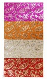 ウェディング封筒:各ピンク、オレンジ、ベージュ、レッド ペイズリー  郵送OK