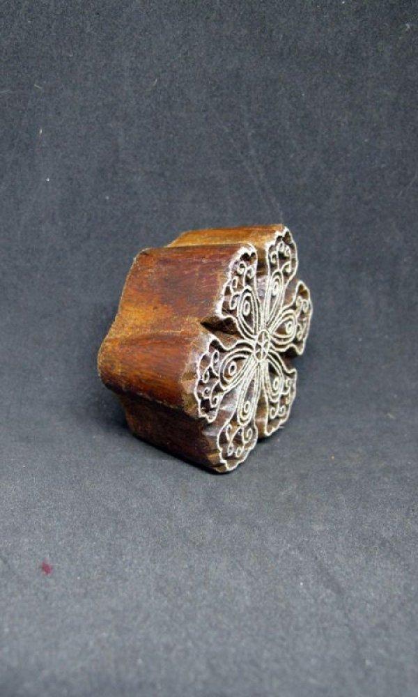 画像3: インド木版 フラワー<郵送OK>