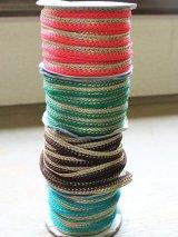 インディアンリボンレース:各ピンク、グリーン、ブラウン、エメラルドグリーン&ゴールド 郵送OK