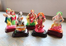 他の写真2: レジンのヒンズー神<クリシュナ&ラーダ像>