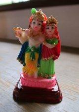 レジンのヒンズー神<クリシュナ&ラーダ像>