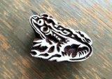 インド木版:カエル