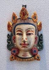 ホワイト(シタ)ターラーマスク壁飾り