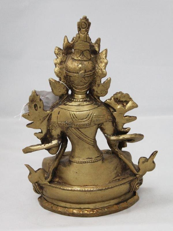 画像4: ネパール 真鍮 ホワイトターラー(シタターラー)8インチ