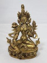 ネパール 真鍮 グリーンターラー(カディラヴァニーターラー)8インチ