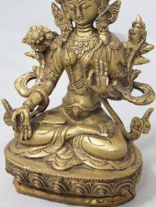他の写真2: ネパール 真鍮 ホワイトターラー(シタターラー)8インチ