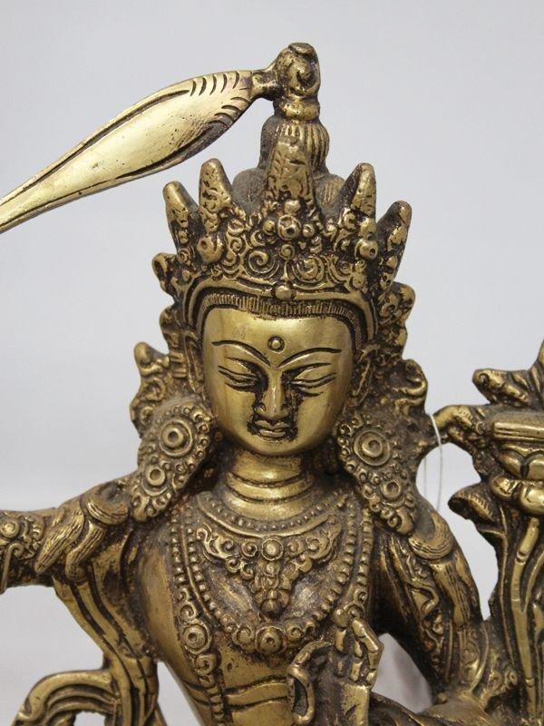 画像2: ネパール 真鍮 マンジュシュリー (文殊師利菩薩)8インチ
