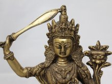 他の写真1: ネパール 真鍮 マンジュシュリー (文殊師利菩薩)8インチ