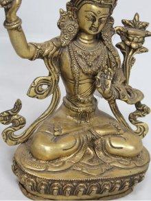 他の写真2: ネパール 真鍮 マンジュシュリー (文殊師利菩薩)8インチ