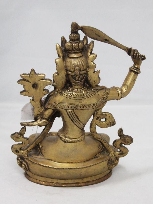 画像3: ネパール 真鍮 マンジュシュリー (文殊師利菩薩)8インチ