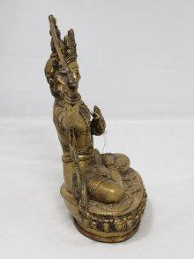 他の写真3: ネパール 真鍮 マンジュシュリー (文殊師利菩薩)8インチ