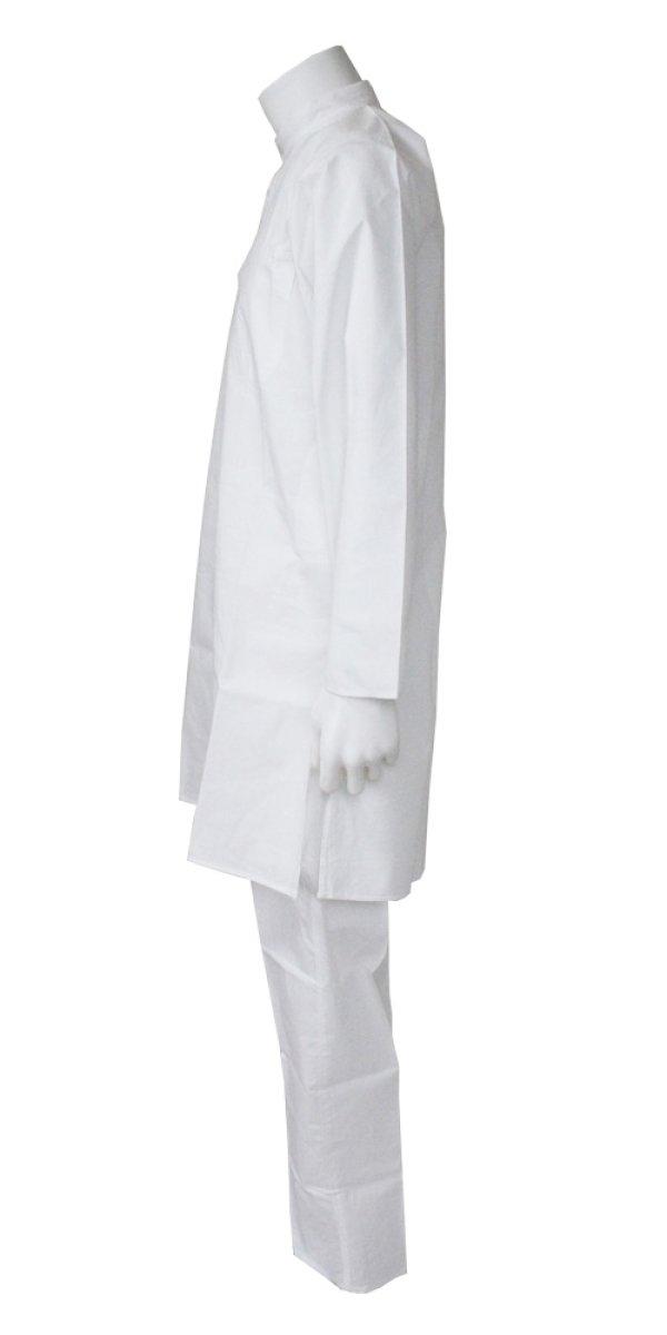画像2: 再入荷 SALE! クルタ・パジャマ:ホワイト 各S、S〜M、M(インド表記40、42、44)