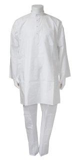 SALE! クルタ・パジャマ:ホワイト 各S、M(インド表記40、44)