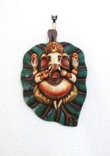 ガネーシャ菩提樹壁飾り