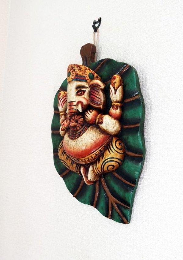 画像2: ガネーシャ菩提樹壁飾り