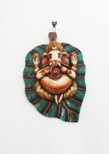 他の写真1: ガネーシャ菩提樹壁飾り