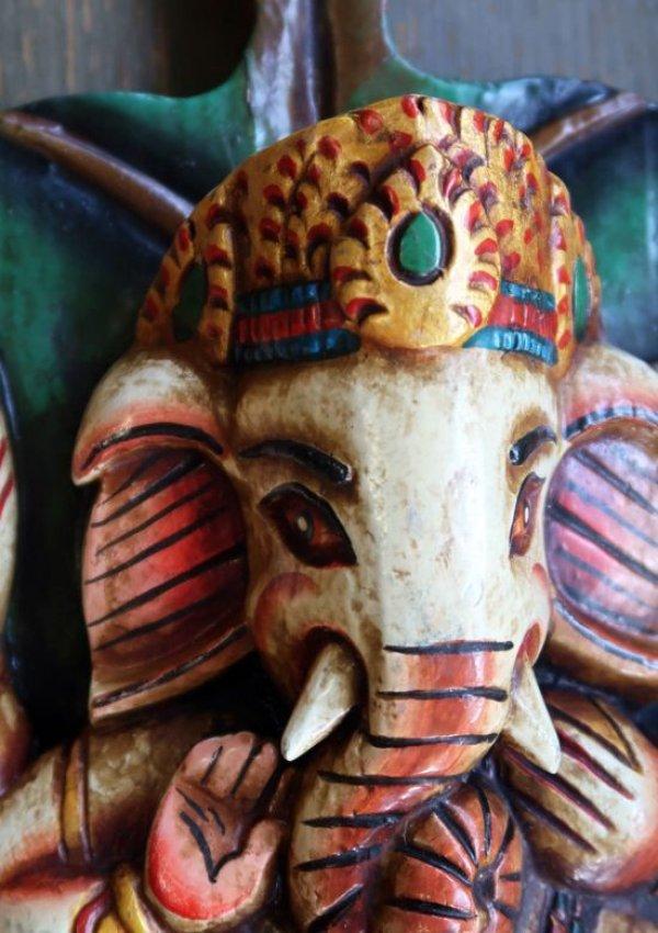 画像4: ガネーシャ菩提樹壁飾り
