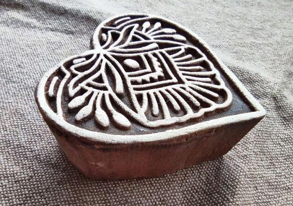 画像3: インド木版:ハート