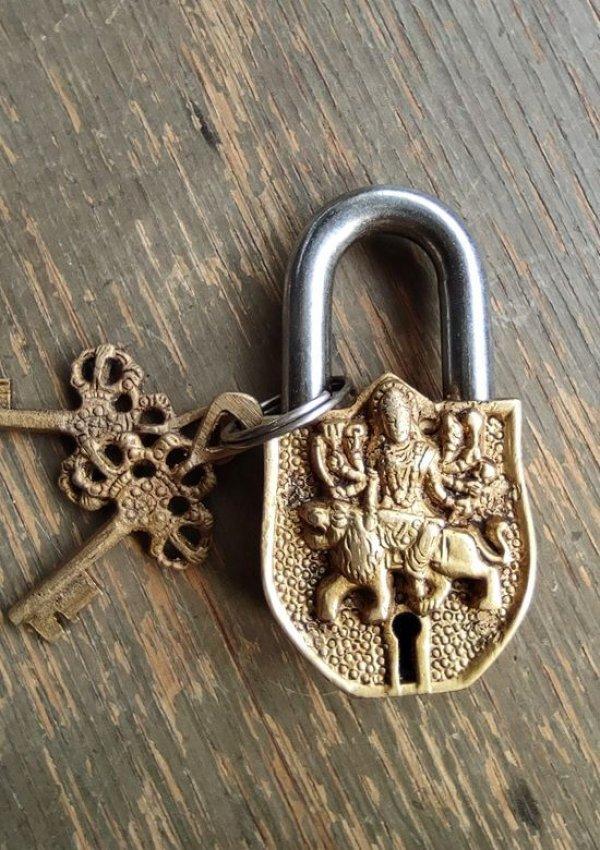 画像1: 錠前 ドゥルガー India