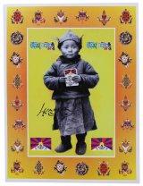 神様 ポスター カード :ダライ・ラマ 14世 幼少期