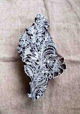 インド木版:ボタニカル