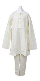 SALE!! 子供用 クルタパジャマ サイズ140〜150相当(インド表記24):クリーム色